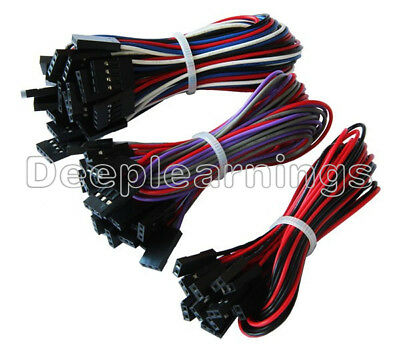 70cm 1//2//5//10PCS Female To Female 2Pin//3Pin//4Pin Jumper Dupont Cable for Arduino