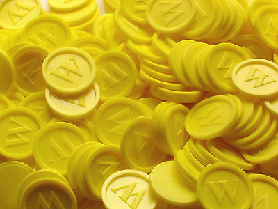 Tokens, Deposit Coins, Beverage w- Quantities Selectable Color:Yellow