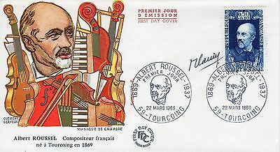 "France Engraver autograph-Robert Cami: Music ""Compositor"" cacheted FDC 1969"