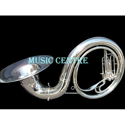 "Sousaphone Biggest Size 25"" Bell In Chrome Polish Of Pure Brass + Free Case Box"