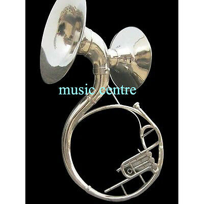 Sousaphone Double Bell Both Bell Fully Functional 22 Inches Chrome Polish Wcase