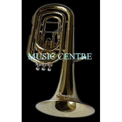 Baritone Horn Made Of Pure Brass In Brass Polish + Case+Mouthpc+ Free Shipping