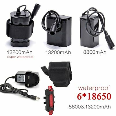DC Rechargeable 8.4V 18650 Batteries Pack For LED Bike Cycling CREE T6/U2 Lights