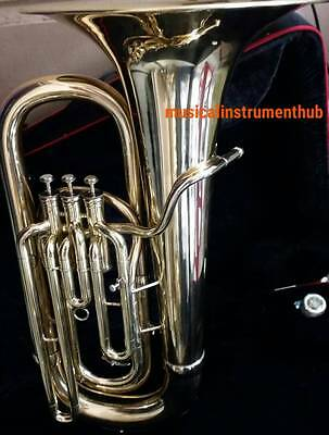 Tuba Eb Flat Of Pure Brass In Pure Golden Polish+Hard Case+Mouthpc+Free Shipping