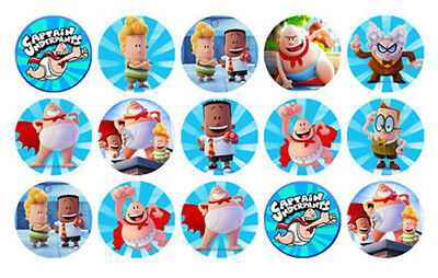 15 Captain Underpants Edible Wafer Cupcake Decoration Cup Cake Images Toppers