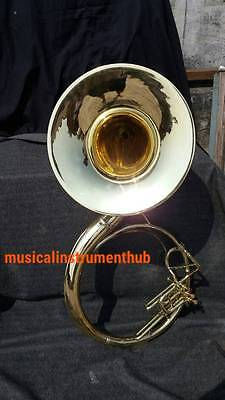 "Sousaphone Bell 22"" Of Pure Brass In Brass Gold + Case+ Mouthpc + Free Shipping"