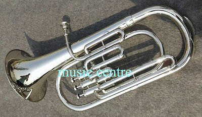 Baritone Made Of Pure Brass In Silver Polish + Case+ Free Shipping+ Best Offer )