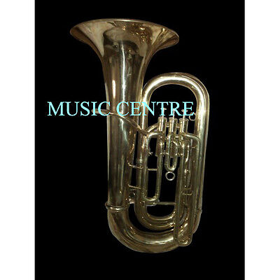 Tuba Eb Flat Of Pure Brass In Pure Gold Polish+Hard Case+ Mouthpc+Free Shipping