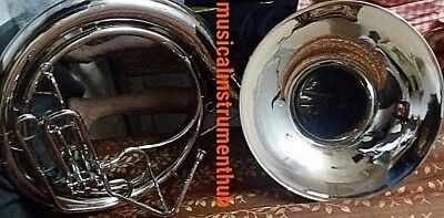 "Sousaphone For Bands 25"" Bell In Chrome Polish Of Pure Brass +Case+Free Shipping"