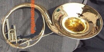 "Sousaphone For Bands 22""bell Of Pure Brass In Gold Polish + Case+ Free Shipping"