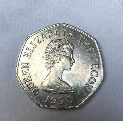 1990 Bailiwick of Jersey LARGE 50p Coin