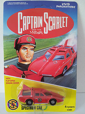 Captain Scarlet Spectrum Car Diecast Unpunched New Sealed & Carded  Dated 1993