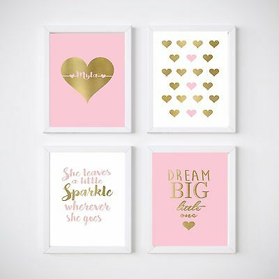 Girl's Nursery Prints Wall Art Kids Room Decor,Love,  Sets or Individuals