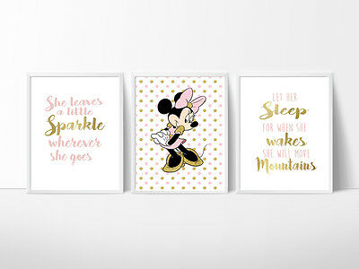 Minnie Mouse Nursery Room Prints, Kids wall decor, Create your own layout