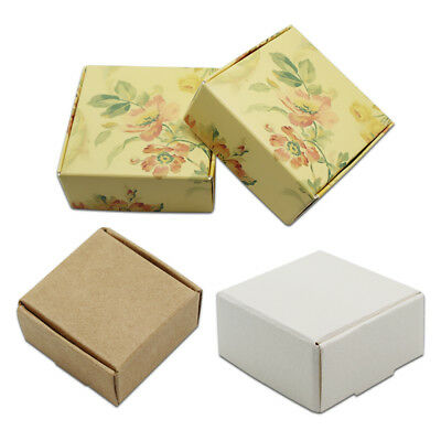 Kraft Paper Box Small Gift Wedding Favor Jewelry Candy Foldable Packaging Boxes