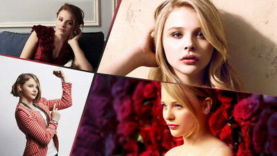 "054 Chloe Moretz - Hit Girl Beauty Hot Movie Actress Star 24""x14"" Poster"