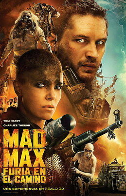 "025 Mad Max 4 Fury Road - Fight Shoot Car USA Movie 14""x21"" Poster"