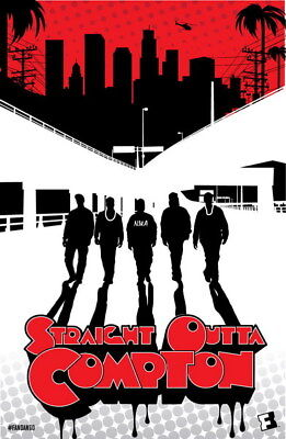 """028 Straight Outta Compton - Ice Cube MC Ren HIPHOP Moive14""""x21"""" Poster"""