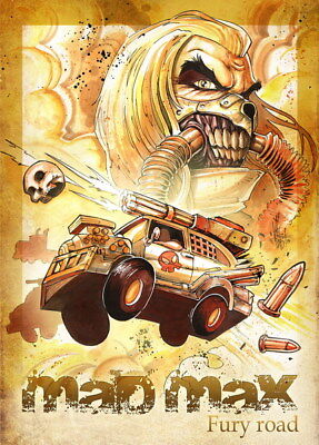 "072 Mad Max 4 Fury Road - Fight Shoot Car USA Movie 14""x19"" Poster"
