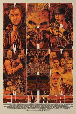 "099 Mad Max 4 Fury Road - Fight Shoot Car USA Movie 14""x21"" Poster"