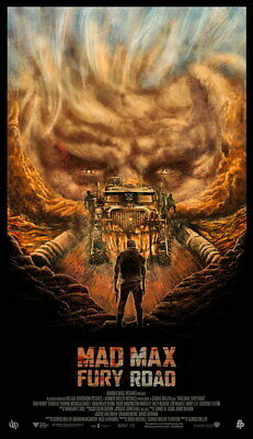 "093 Mad Max 4 Fury Road - Fight Shoot Car USA Movie 14""x24"" Poster"