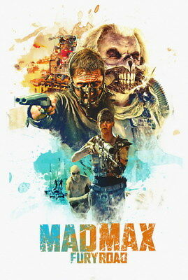 """149 Mad Max 4 Fury Road - Fight Shoot Car USA Movie 14""""x20"""" Poster"""