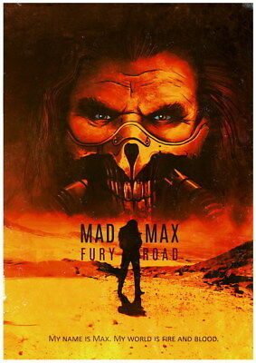 """142 Mad Max 4 Fury Road - Fight Shoot Car USA Movie 14""""x19"""" Poster"""