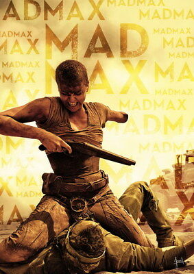 """117 Mad Max 4 Fury Road - Fight Shoot Car USA Movie 14""""x19"""" Poster"""
