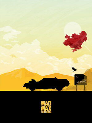 "012 Mad Max 4 Fury Road - Fight Shoot Car USA Movie 14""x18"" Poster"