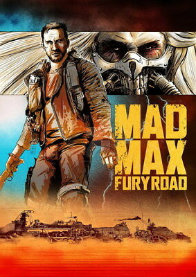 "137 Mad Max 4 Fury Road - Fight Shoot Car USA Movie 14""x19"" Poster"