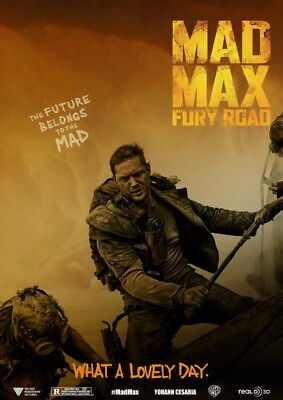 """156 Mad Max 4 Fury Road - Fight Shoot Car USA Movie 14""""x19"""" Poster"""