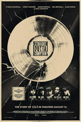 """038 Straight Outta Compton - Ice Cube MC Ren HIPHOP Moive14""""x21"""" Poster"""