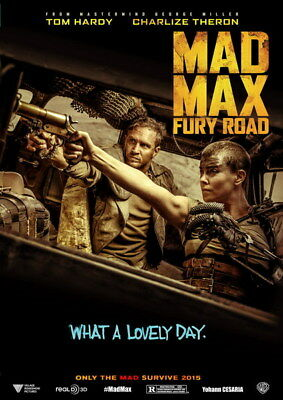 """047 Mad Max 4 Fury Road - Fight Shoot Car USA Movie 14""""x19"""" Poster"""