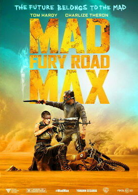 "056 Mad Max 4 Fury Road - Fight Shoot Car USA Movie 14""x19"" Poster"