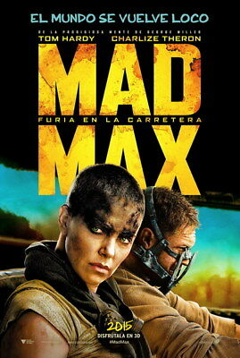 "066 Mad Max 4 Fury Road - Fight Shoot Car USA Movie 14""x20"" Poster"
