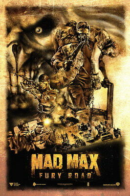 """050 Mad Max 4 Fury Road - Fight Shoot Car USA Movie 14""""x21"""" Poster"""