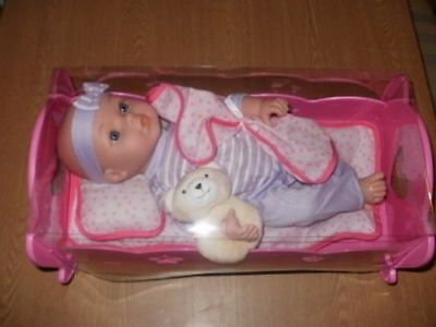 EMMI DOLL AND BED SET Doll Pink Toy Playset