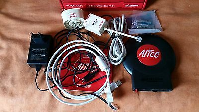 Modem Telecom Alice Gate modello base con 2 Filtri RJ, USB / Ethernet
