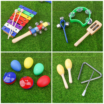 Wooden Percussion Set Music Instruments Toys Band Kit Kids Children Gift