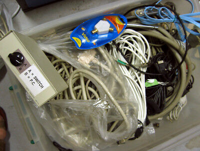 Bulk lot Serial Switch Box Parallel Cable Tv Aerial Adaptor & assorted types etc