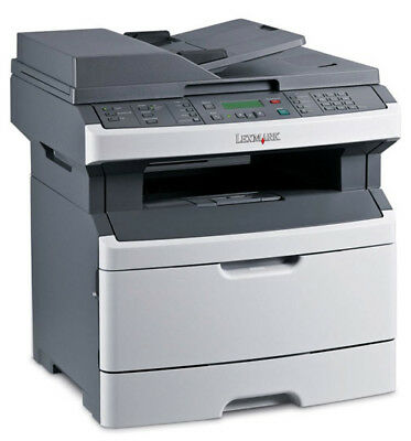 Used Lexmark X264dn Black & White All-in-One Laser Printer Copier Fax **No Toner