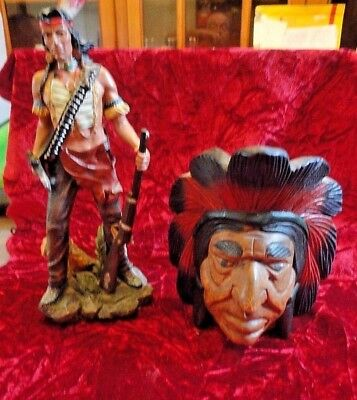 Regency Fine Arts -  Apache collection & a wooden indian head