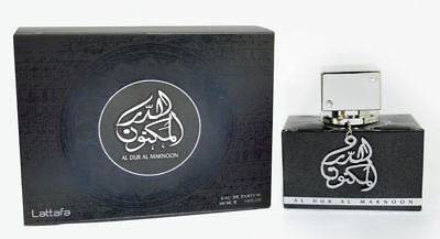 Al Dur Al Maknoon Silver Jasmine Fruity Patchouli Ambery by Lattafa 100ml EDP