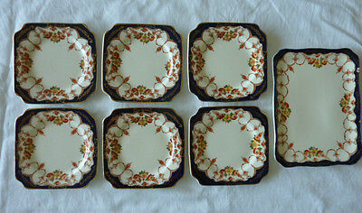 Sir John Bennett Ltd Cheapside Ec 7 Plate Sandwich Set Berkeley Imari Style 1930