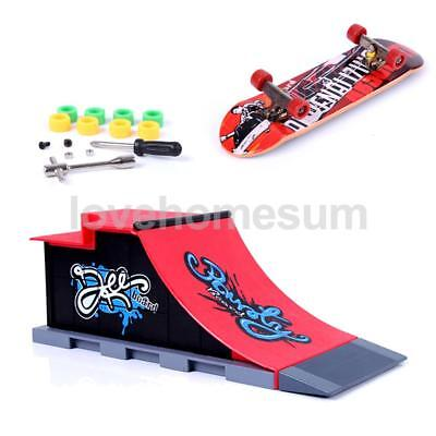 Mini Skateboard and Ramp Accessories Creative DIY Finger Toy Site for Child