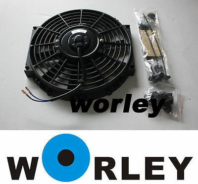 9 inch 12V volt Electric Cooling Fan Thermo Fan + Mounting kits