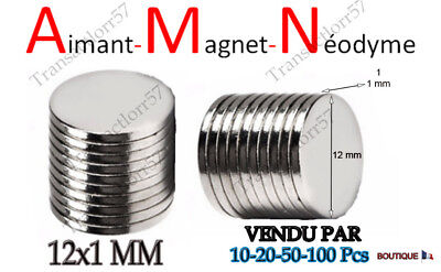 Aimant Rond Magnet Neodyme Disque Puissant 12X1 Mm