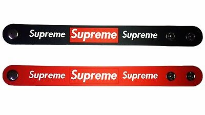 Red Box Supreme Silicone Rubber Wristband Bracelet color black Set of 2