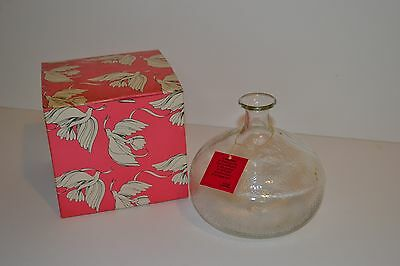 Vintage Avon 1979 Thankyou Keepsake Bulbous Glass Vase with Avon Markings in box