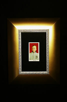1909 -11 Ty Cobb Red Background T206 RP Tobacco Card Old Tigers Baseball Antique